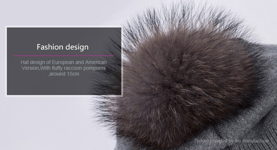 Women's Knitted Winter Warm Pompom Beanie Hat