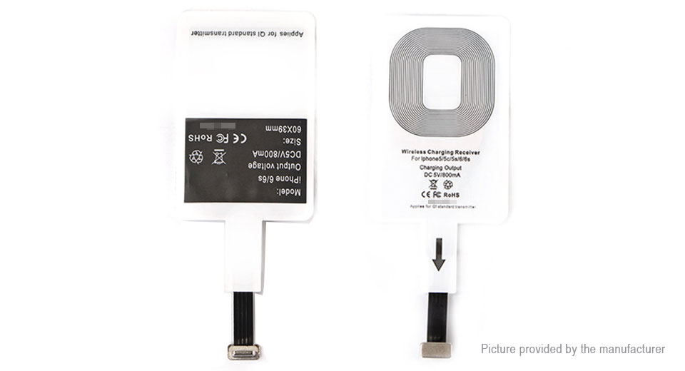 Qi Inductive Wireless Charging Receiver for iPhones