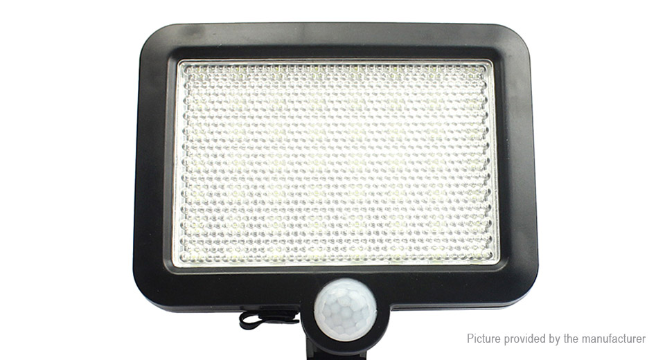 Solar Powered PIR Motion Sensor LED Garden Wall Lamp Light