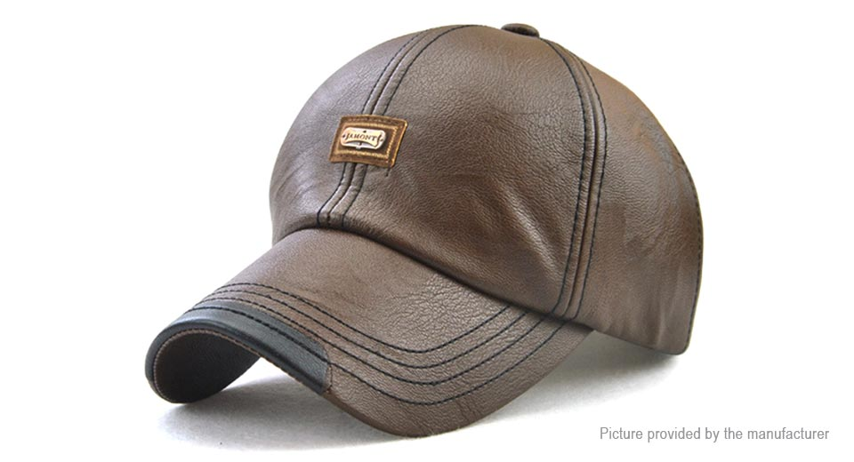 Product Image: jamont-men-s-pu-leather-baseball-cap-outdoor