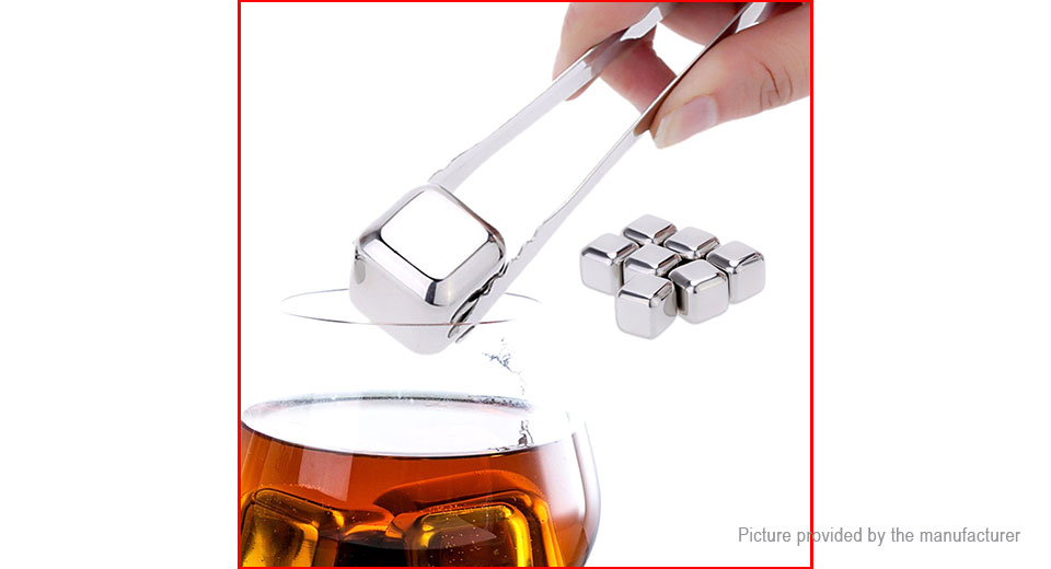 304 Stainless Steel Whisky Ice Cubes Stone Drink Cooler (8-Pack)