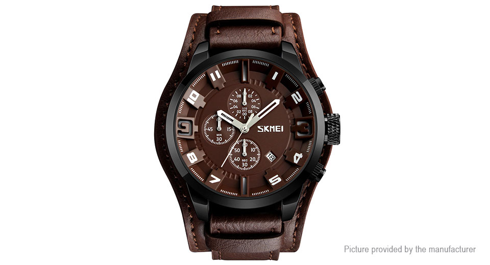 Product Image: authentic-skmei-9165-men-s-leather-band-analog