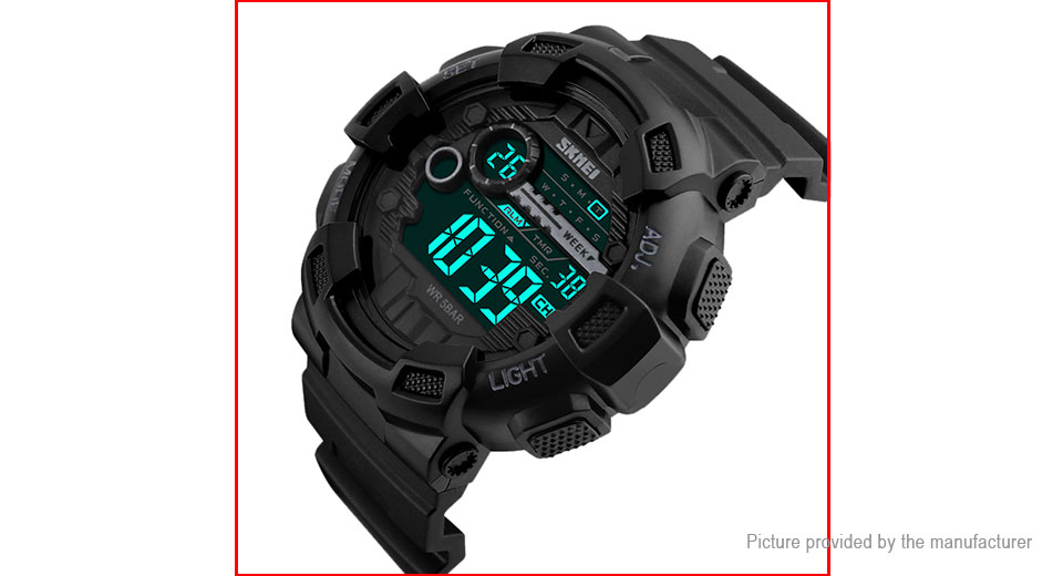 Authentic Skmei 1243 Men's PU Band Sports Luminous Digital Wrist Watch