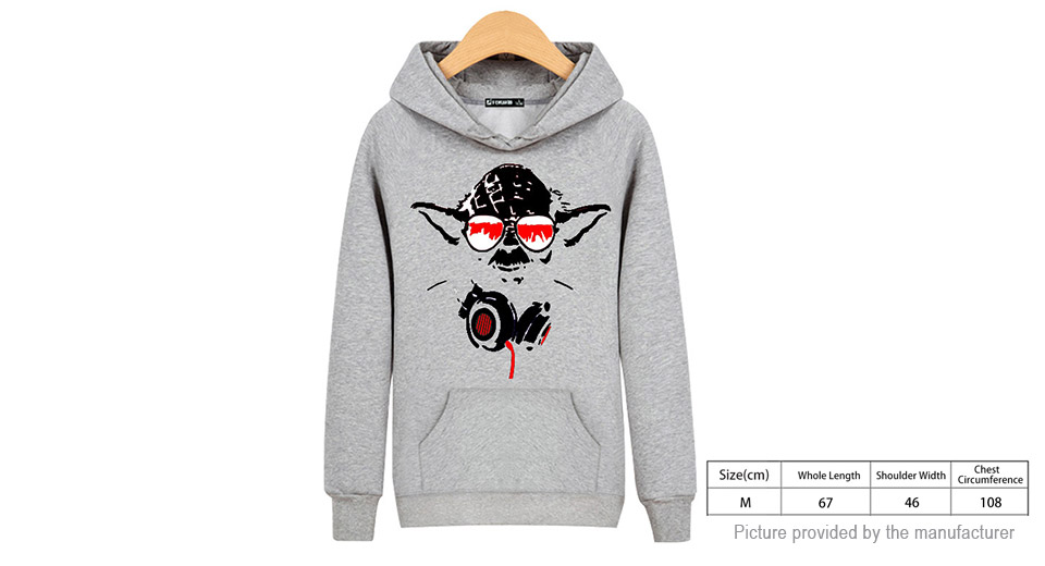 unisex star wars printing drawstring pullover hoodie size m for 170 175cm height 60. Black Bedroom Furniture Sets. Home Design Ideas
