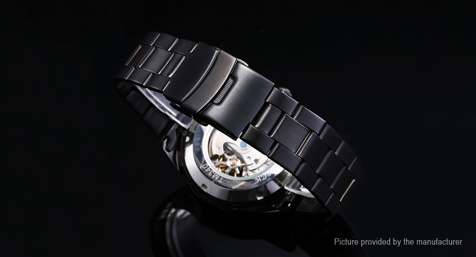 Forsining 340 Men's Stainless Steel Band Mechanical Wrist Watch