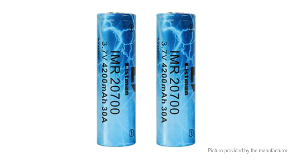 Product Image: authentic-listman-imr-20700-3-7v-4200mah