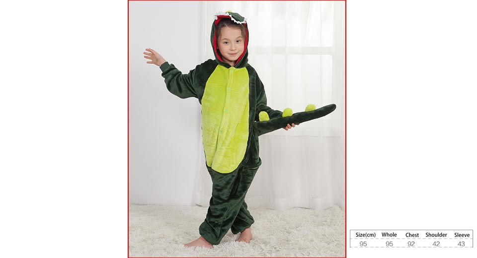 Product Image: cartoon-animal-jumpsuit-pajamas-flannel-hooded
