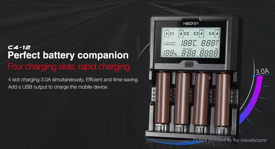 Product Image: miboxer-c4-12a-4-slot-intelligent-battery-charger
