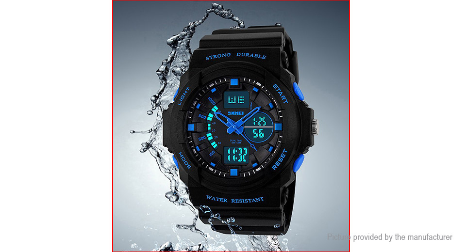 Authentic Skmei 0955 Men's PU Leather Band Sports Digital Wrist Watch
