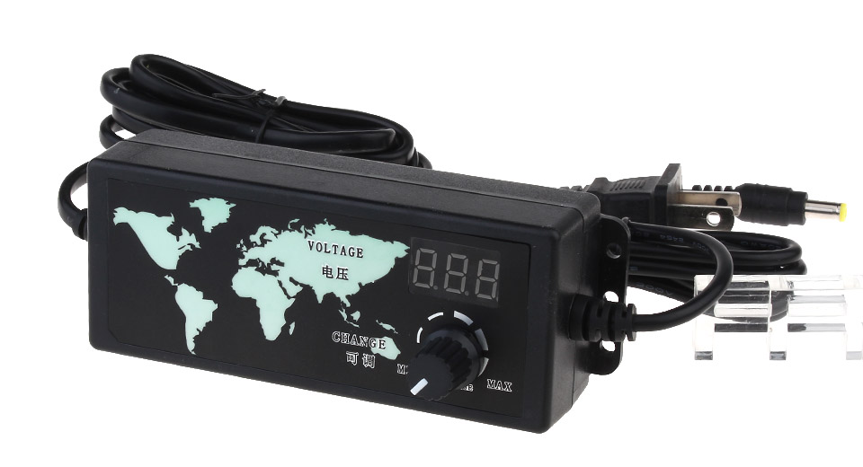 $12.14 AC 100-240V to DC 3-12V 5A Power Supply Adapter (US) - PWM ...