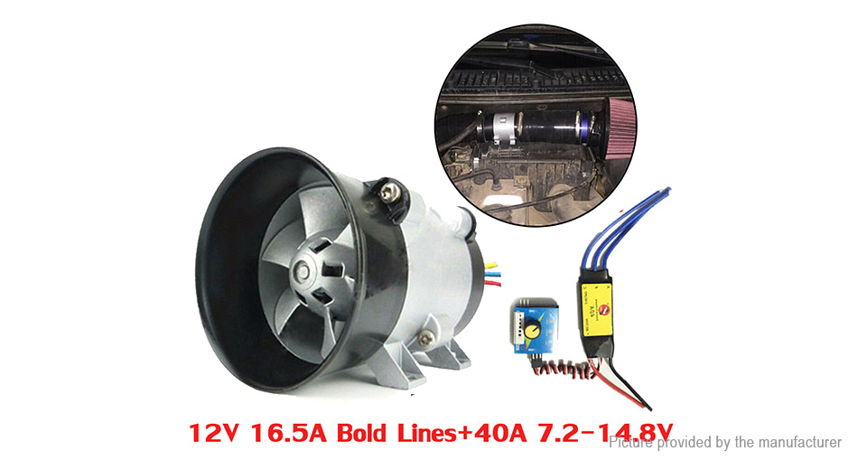 12V Car Electric Turbine Power Turbo Charger Tan Boost Air Intake Fan High Speed