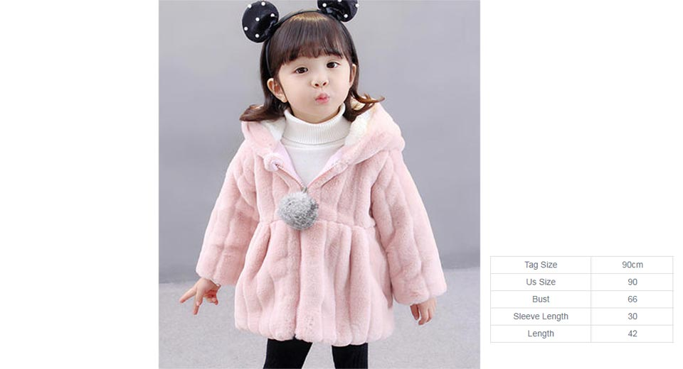 adce57334  17.68 Baby Girl s Faux Fur Hooded Coat (90cm) at FastTech ...