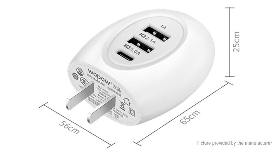 8 27 Authentic Wopow A23 Intelligent 3 Port Usb Wall Charger Power