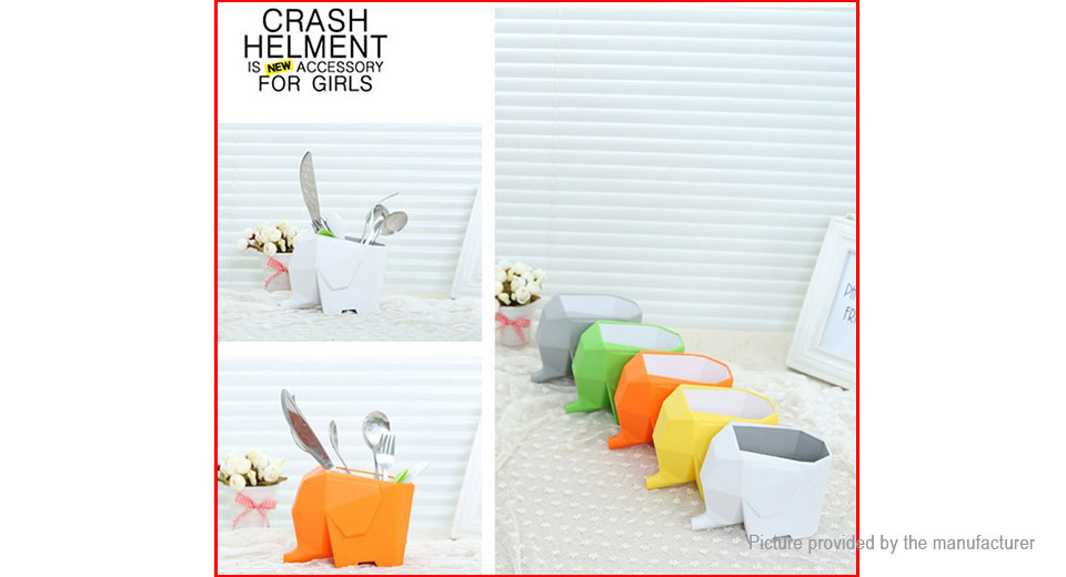 Elephant Styled Kitchen Cutlery Drainer Bathroom Storage Box Pen Holder