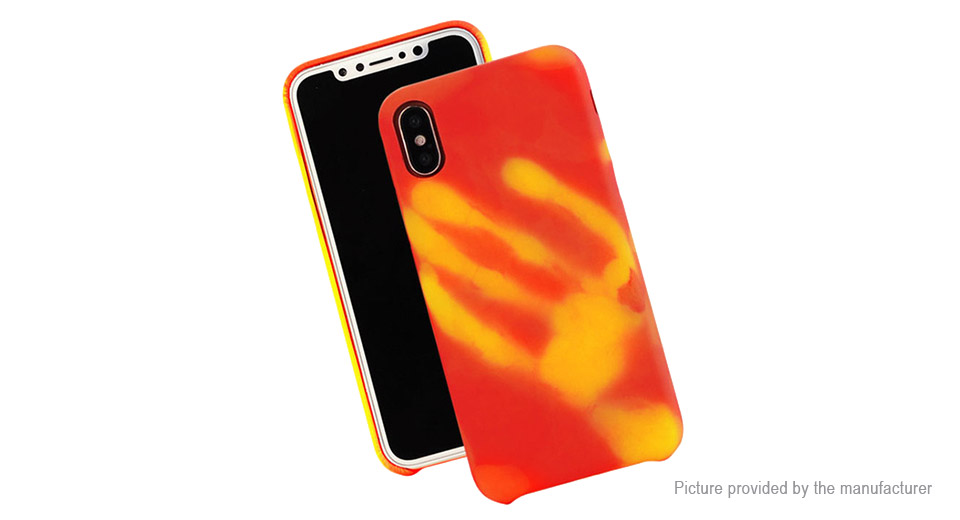 check out 0571f 0be6a $2.28 Thermal Sensor Protective PU Back Cover Case for iPhone X at FastTech  - Worldwide Free Shipping
