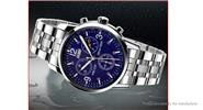 Authentic Skmei 9070 Men's Stainless Steel Band Analog Quartz Wrist Watch