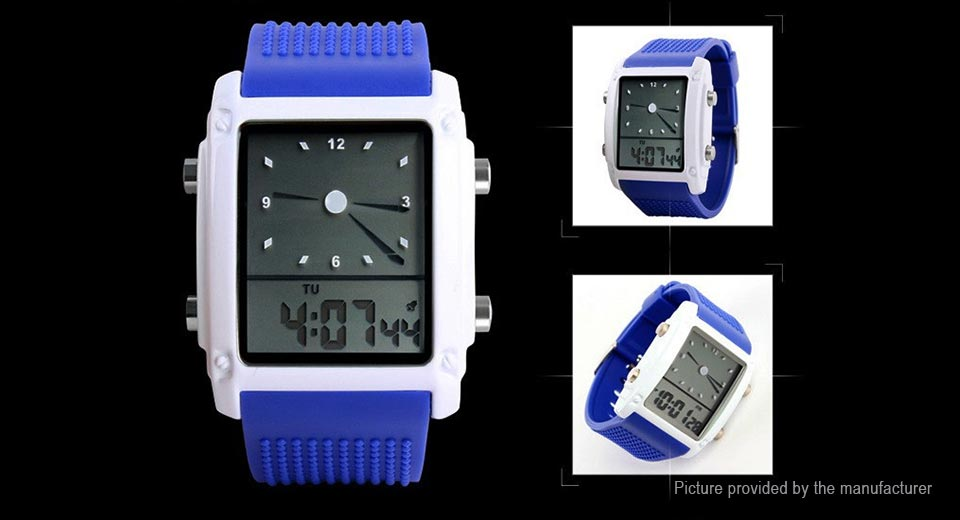 Authentic Skmei 0814 Men's PU Band Digital Analog Quartz Wrist Watch