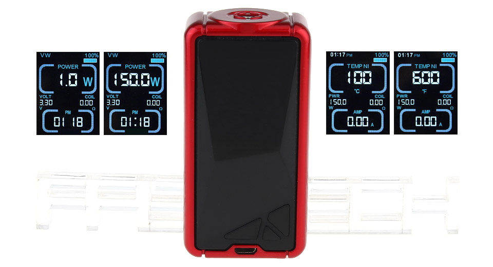 Authentic Eleaf TESSERA 150W 3400mAh TC VW APV Mod (Red)