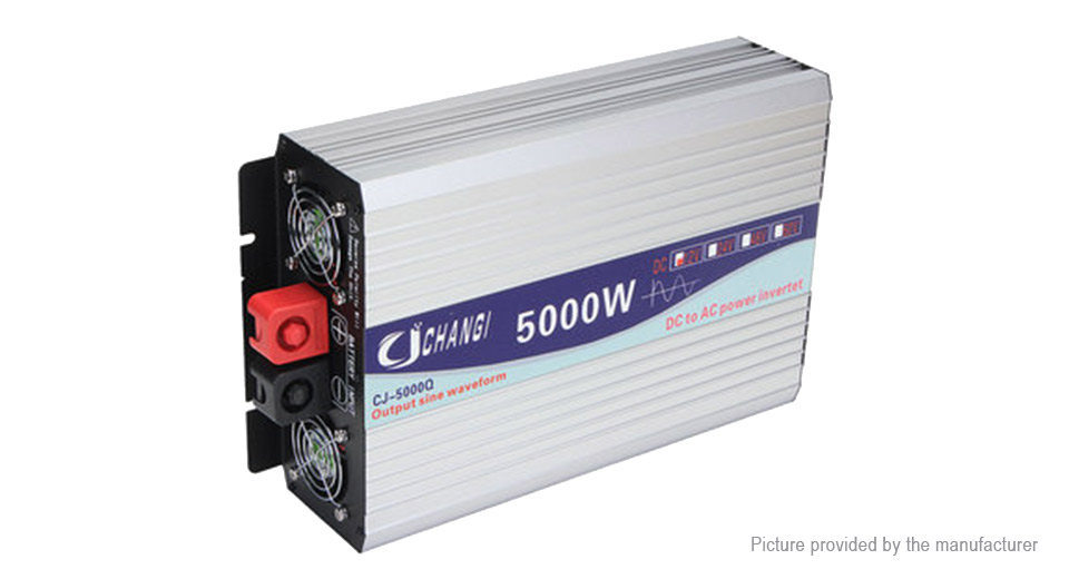 CHANGI Car 5000W DC 12V to AC 220V Pure Sine Wave Power Inverter Converter