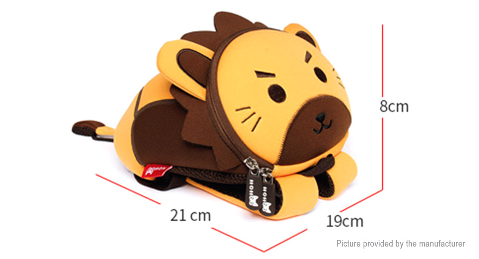 NOHOO 3D Cartoon Lion Styled Childern School Backpack Bag