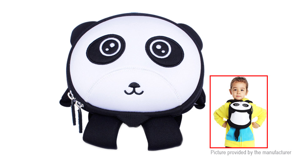 NOHOO 3D Cartoon Panda Styled Childern School Backpack Bag