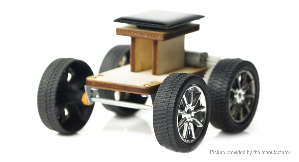 DIY Solar Powered Wood Car Educational Toy