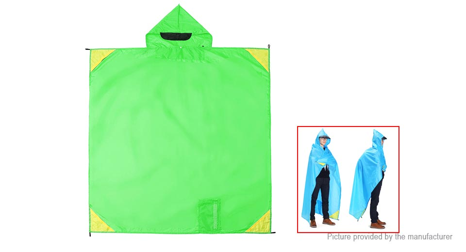 3-in-1 Portable Multifunctional Hiking Poncho Raincoat Sun Shelter Outdoor Camping Mat