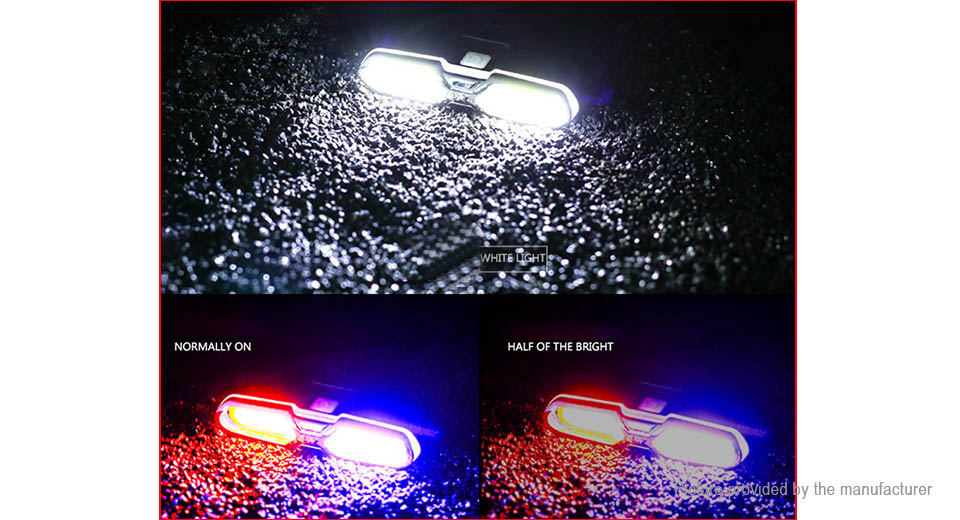 Goofy Multifunction USB Rechargeable Bike Tail Lamp Warning Light