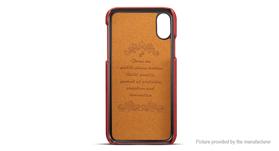 pretty nice 14888 f3f4e $6.16 Suteni PU Leather Protective Back Case Cover for iPhone X -  ultra-slim / card slots at FastTech - Worldwide Free Shipping