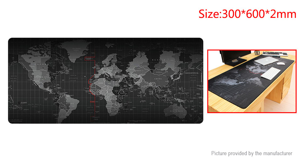 300*600*2mm Large Size World Map Game Mouse Pad Mat