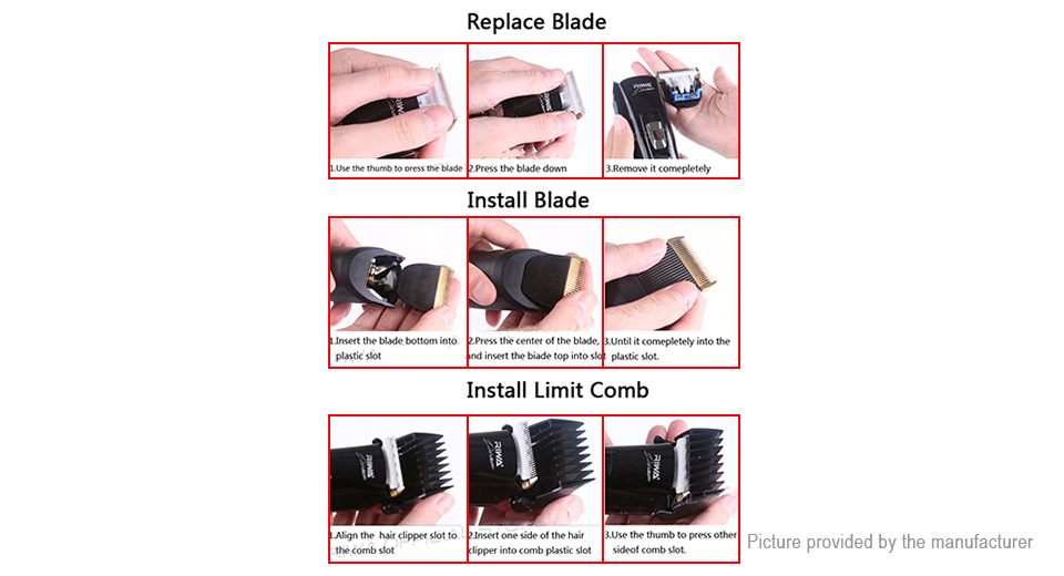 Riwa X7 Rechargeable Electronic Hair Clipper Trimmer