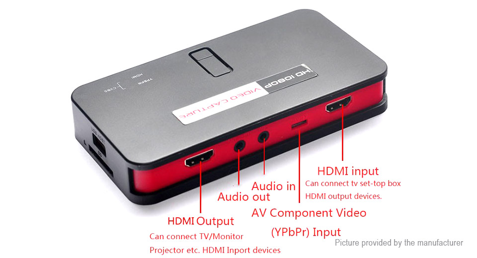 EZCAP284 HD 1080P HDMI Capture YPbPr Recorder CVBS Capture Resolution Game