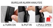 AH Men's Large Capacity Alarm System Anti-theft Backpack Laptop Rucksack