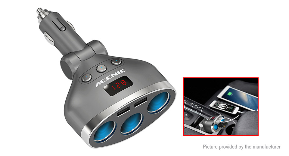 Product Image: accnic-t3-dual-usb-car-cigarette-lighter-charger