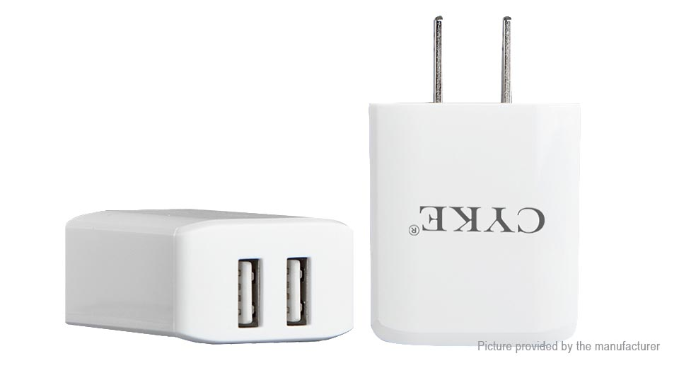 Product Image: cyke-hkl-usb31-dual-usb-travel-wall-charger-power
