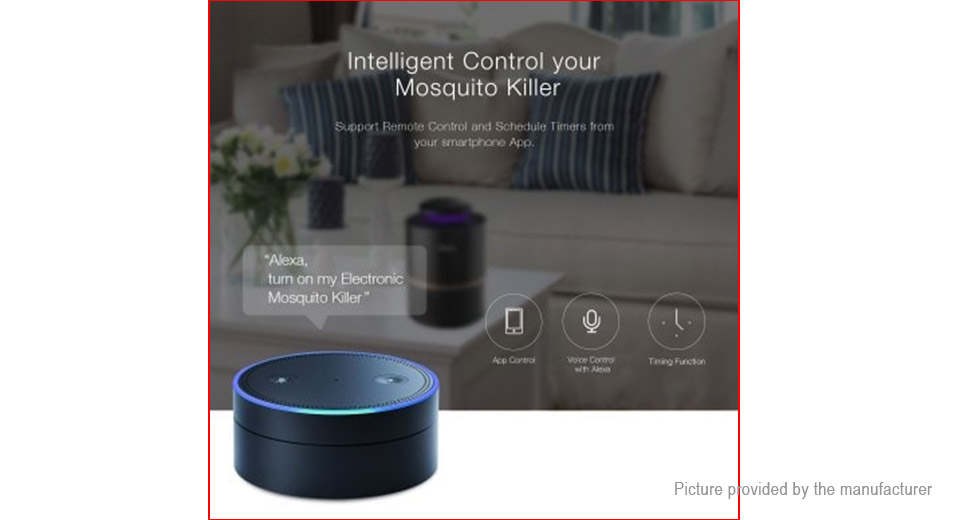 Oittm Non-toxic Indoor LED Mosquito Trap Smart Mosquito Killer