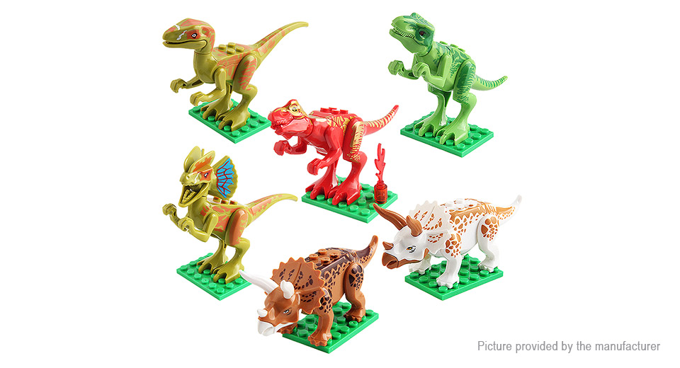 Chengke Toys Jurassic Park Dinosaur Building Blocks Educational Toy (12 Pieces)