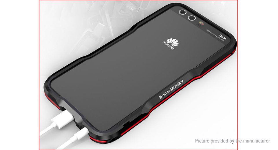 Luphie Metal Bumper Protective Frame Case for Huawei P10