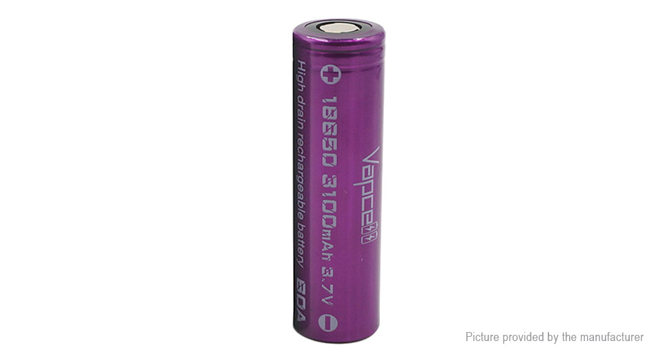 Product Image: vapcell-imr-18650-3-7v-3100mah-rechargeable-li