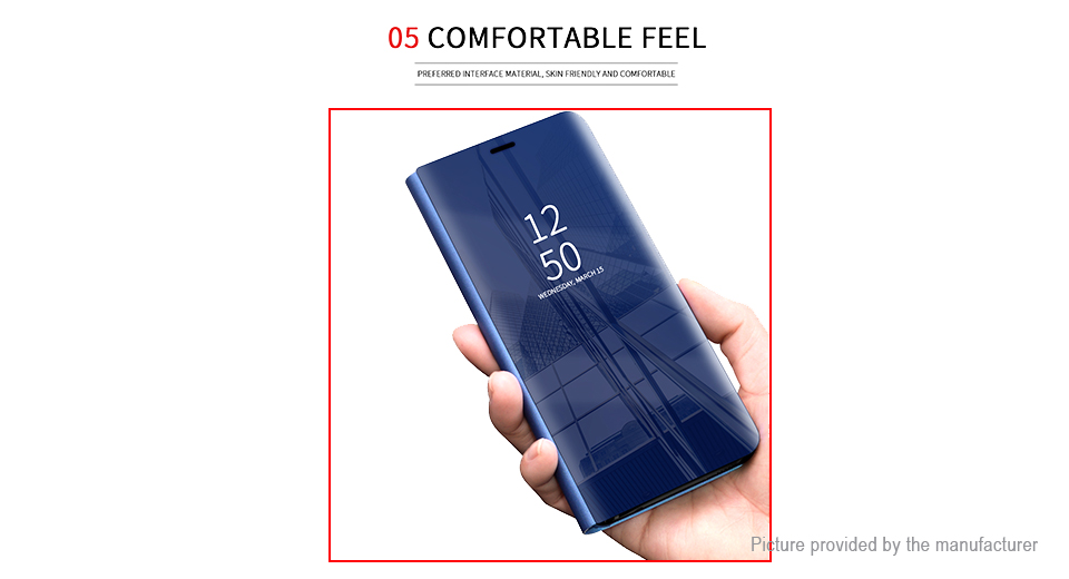 Flip-Open Protective Mirror Case Cover for Samsung Galaxy S9+