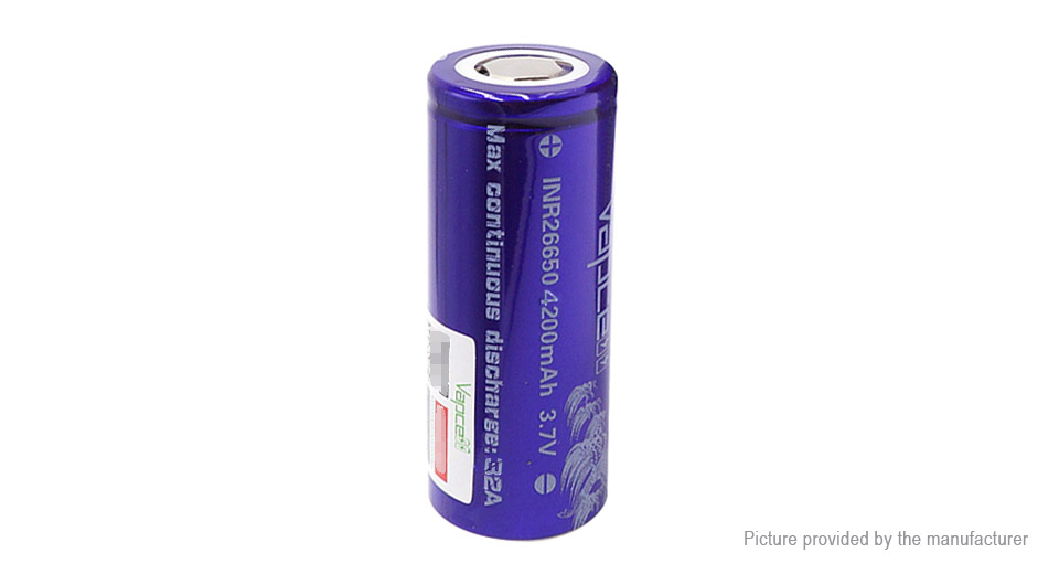 Product Image: vapcell-26650-3-7v-4200mah-rechargeable-li-ion