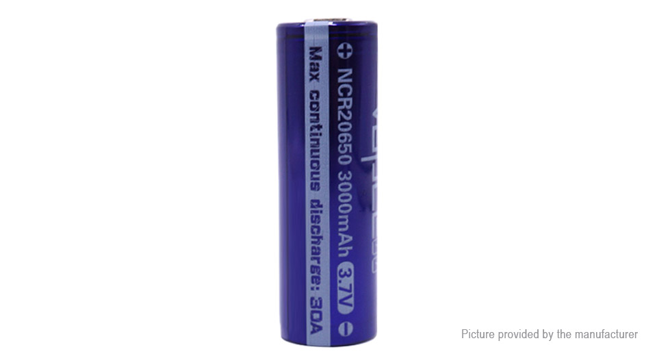 Product Image: vapcell-ncr-20650-3-7v-3000mah-rechargeable-li