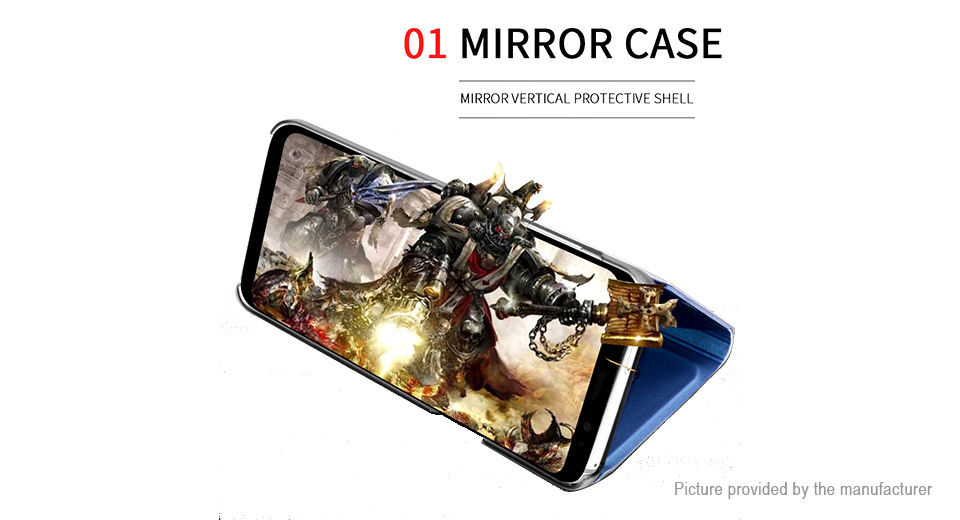 Flip-Open Protective Mirror Case Cover for Samsung Galaxy S9