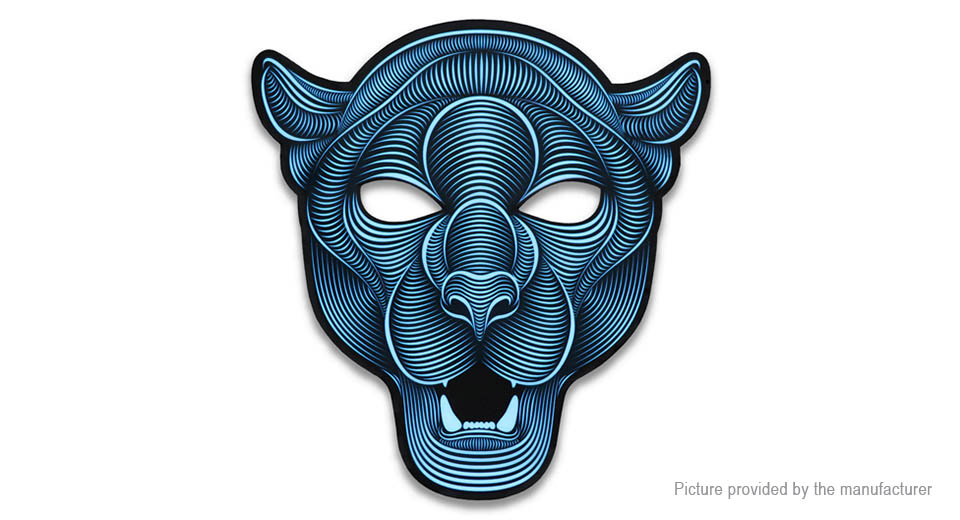Product Image: tiger-pattern-sound-reactive-led-mask