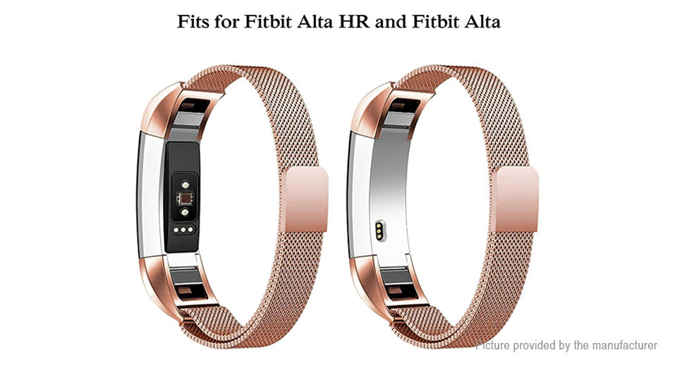 316L Stainless Steel Replacement Wristband Strap for Fitbit Alta HR