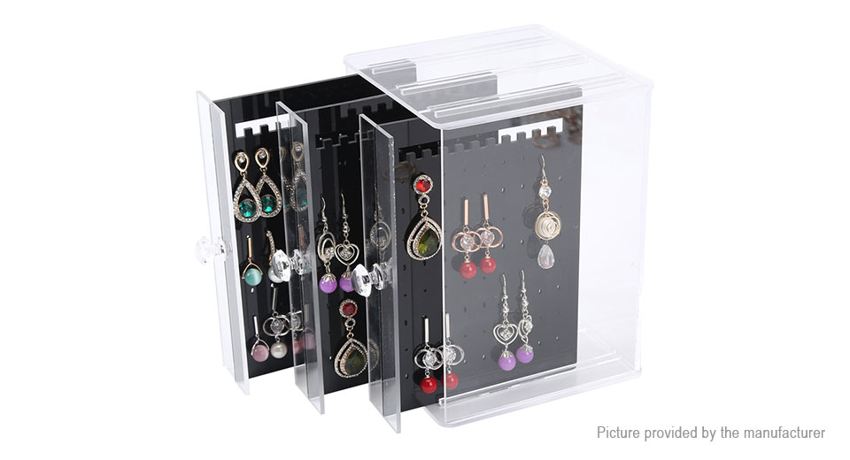 2195 Rectangle Acrylic Jewelry Organizer Tray Display Stand Box