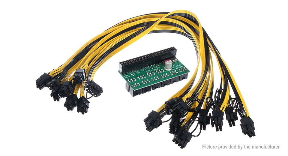 1600W PSU Breakout Board Adapter w/ 6-pin to 8-pin(6+2) Video Card Adapter Cable