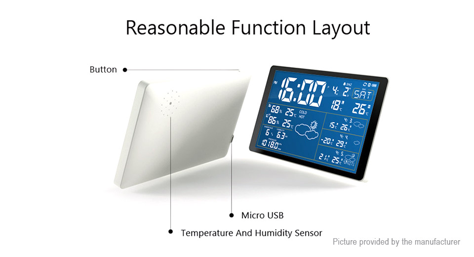 Multifunctional Wifi Smart Thermometer Weather Forecast Desktop Alarm Clock