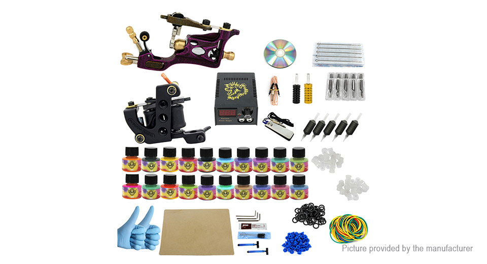 $31.16 PX110023 Complete Tattoo Machine Kit (US) at FastTech ...