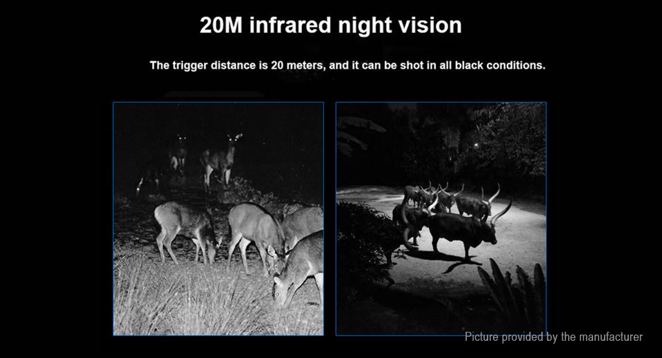 12MP HD 1080P Video Wildlife IR PR100 Trail Night Vision Infrared Hunting Camera